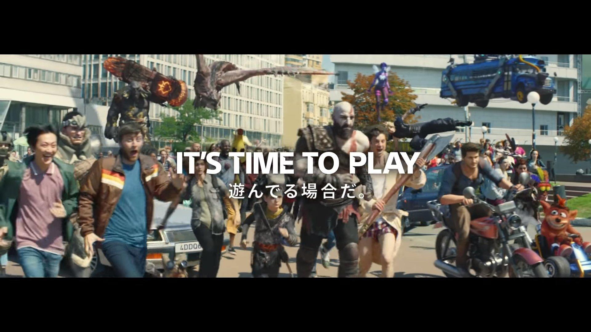 SIE、PS4の新CM『遊んでる場合だ。』公開!PS4の代表キャラが集結した豪華CM!!