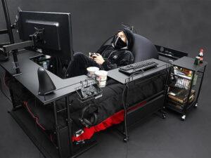 【朗報】ゲーム、食事、睡眠のすべてが完結する「ゲーミングベッド」発売。お値段なんと126300円