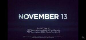 PS5発売日がついに発表!日本はソノタランドの仲間入りか