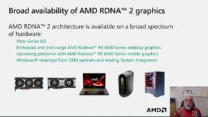 AMD、正式な完全版のRDNA2対応のハードウェアを発表