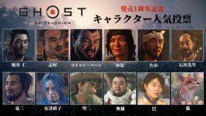 【悲報】ゴーストオブツシマさん、人気投票でモブキャラが1位になってしまう