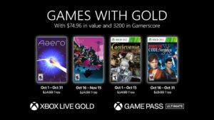 Xbox、10月分の「Games with Gold」ラインナップを発表。PSフリプもリークされる